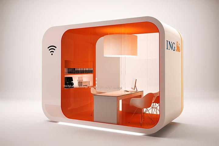 Design stanowiska ING Express - widok 1