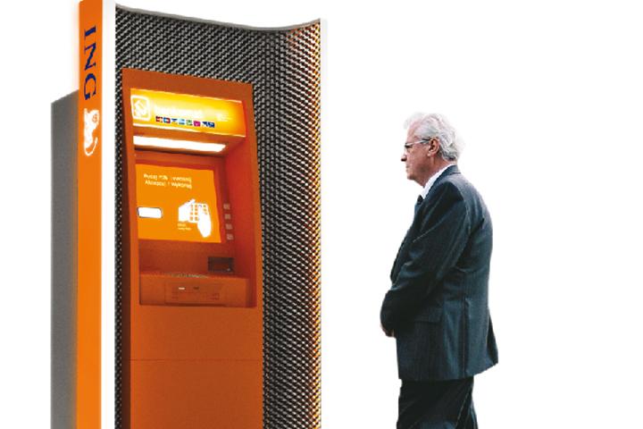 Wizualizacja bankomatu ING